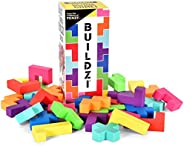 BUILDZI by TENZI - The Fast Stacking Building Block Game for The Whole Family - 2 to 4 Players Ages 6 to 96 -