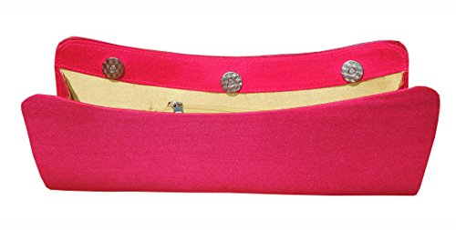 Spice Art - Cartera de mano de Con Cuentas para mujer Rosa hot pink