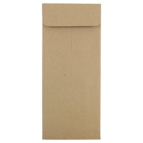 "JAM Paper#10 Open End Envelope - 4 1/8"" x 9 1/2"" - Brown Kraft Paper Bag Recycled - 25/pack"