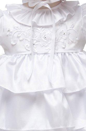 White KID Collection White Infant Christening Baptism Dress