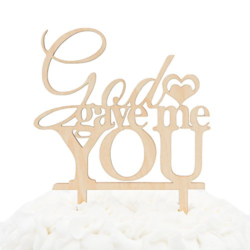 Ella Celebration God Gave Me You Wooden Wedding Cake Topper Christian Religious Rustic Wood Decoration (God Gave Me You) for $<!--$11.99-->