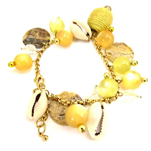 - Les Tresors De Lily Bracelet of 'french touch' 'Salsa' green yellow.