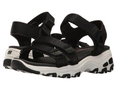 SKECHERS(スケッチャーズ) レディース 女性用 シューズ 靴 サンダル D'Lites - Fresh Catch - Black [並行輸入品]
