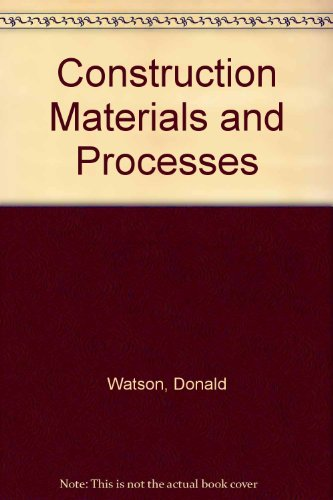 Construction Materials and Processes