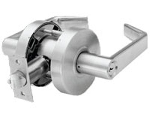 Arrow Lock RL-Series Standard Cold Rolled Steel Satin Chromium Plated Storeroom Schlage C Keyway Cylindrical Lock with Sierra SR Lever, 1-3/4