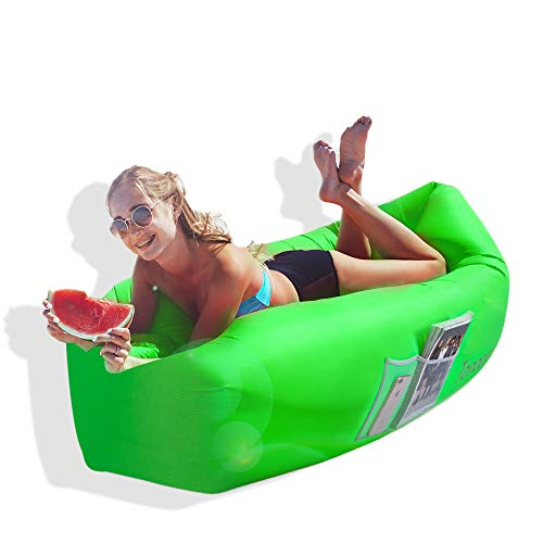 Mother & Kids Lovely Inflatable Lounger Portable Hammock Air Sofa And Camping Chair Ideal Inflatable Couch Chair Blow Up Seat For Picnics & Festivals