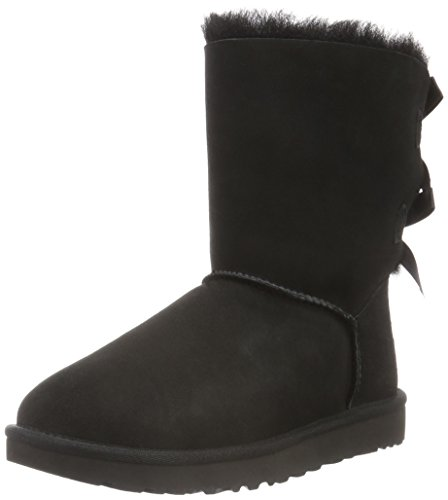 UGG Women's Bailey Bow II Winter Boot, Black, 6 B US