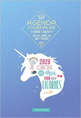 Agenda journalier de ma petite vie bien remplie 2019-2020 ...