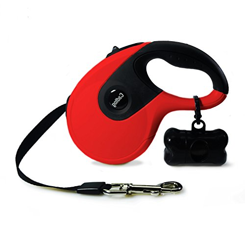 Cadtog Retractable Dog Leash,16 ft Dog Walking Leash for Medium Large Dogs up to 110lbs,One Button Break & Lock, Dog Waste Dispenser and Bags Included