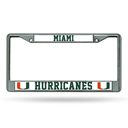 - NCAA Miami Hurricanes Chrome Plate Frame