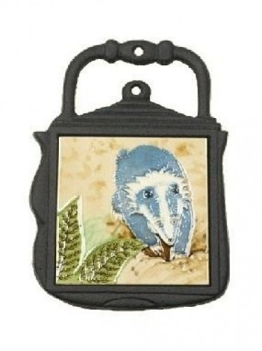 Cast Iron and Ceramic Kettle Trivet - Badger Design Black Country Metal Works