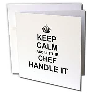 3dRose mantener la calma y dejar que la Chef mango It ...