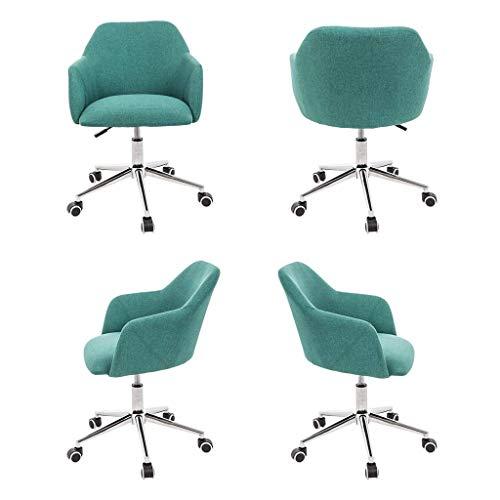 Bekväm – andningsbar linne lounge-stol, svängbar lyft svängbar stol, midja och ryggstöd, lämplig för mottagningsrum, vardagsrum (flerfärgad tillval)