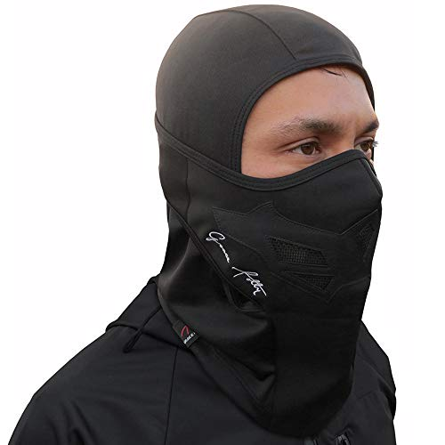 Full Balaclava Ski Face Mask. Use for Snowboarding & Cold Winter Weather Sports (One Size, Black)