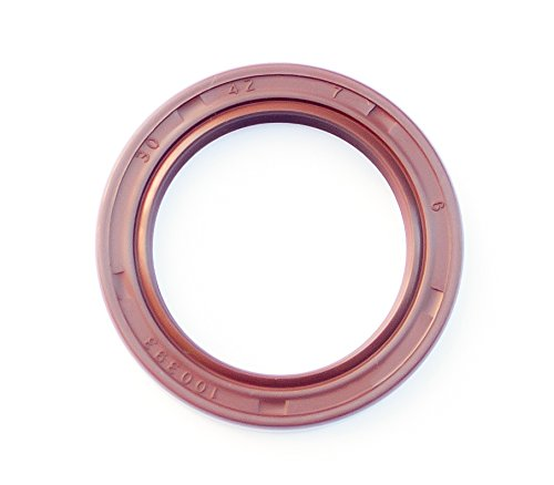 Oil and Grease Seal TC30X42X7 VITON Rubber Double Lip with Spring 30mmX42mmX7mm (5 Pieces) by EAI Parts