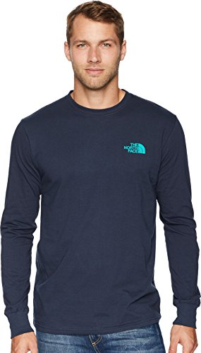 Box Discount Retail (The North Face Men's Long Sleeve Red Box Tee Urban Navy/Porcelain Green XX-Large)