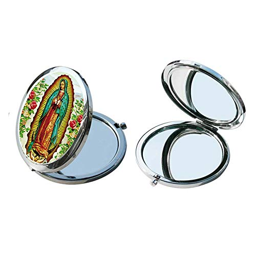 (Our Lady of Guadalupe compact Mirror (12 Pcs Pack) - Baptism Favor/Christening Favor/First Communion Favor)