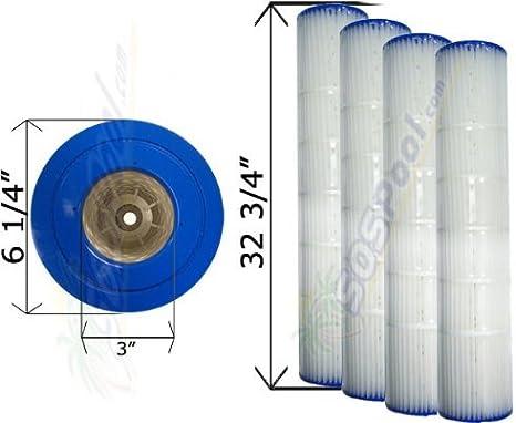 Pool Filter Cartridge 4 Pack Replacement for Pentair Quad DE 60 Filter