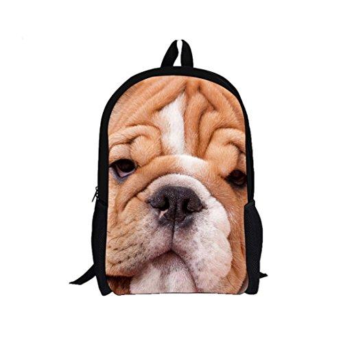 3D Shar Pei perro mochila, mochila bolsas de hombro por Morwind D