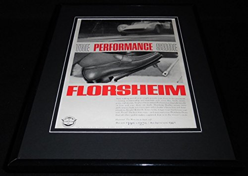 1966 Florsheim Performance Shoes Framed 11x14 ORIGINAL Vintage Advertisement