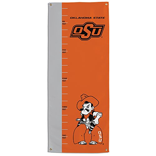 (NCAA Oklahoma State Cowboys Growth Chart Banner, Orange)