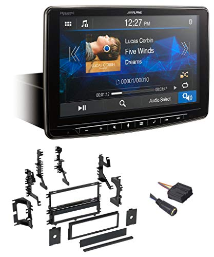 Dodge Vertical Conversion Kit - Alpine Digital Media Bluetooth Receiver w/CarPlay for 1994-98 Mitsubishi Galant