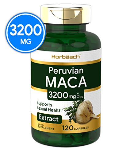 Maca Root Capsules 3200 mg | 120 Pills | Peruvian Maca Extract for Men and Women | Non-GMO, Gluten Free | by Horbaach