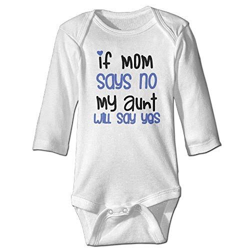 Baby Says Long Sleeve Bodysuit - If My Mom Says No My Aunt Will Say Yes Baby Boys Long Sleeves Romper Bodysuit