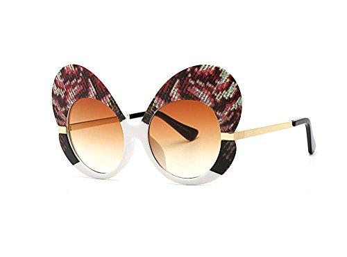 f72ab82fc3 Fashion Butterfly Border Female Sunglasses street beat go show sunglasses  (Serpentine color