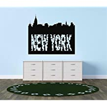 Design with Vinyl Cryst 188 277 As Seen New York Skyline Vinyl Wall Decal Art Home Decor Bedroom Living Room, 20 by 30-Inch, As Seen