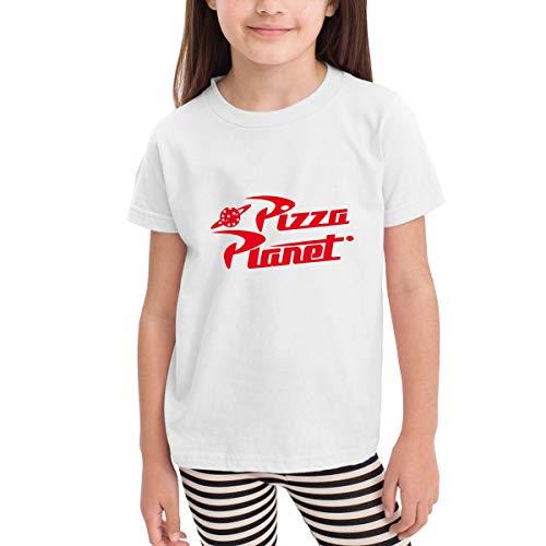 YAkjfdivn Pizza Planet Toddler Kids Short Sleeve Crew Neck Shirt White