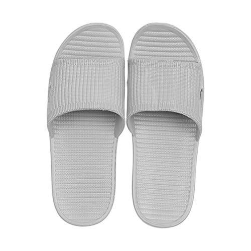Unisex 42 Skidproof Al Donna Sandali 43 Casa Spiaggia Coperto Estate Gray Bagno Casuali Bianco Uomo Pantofole Da Scarpe Piatti rwrFq1T