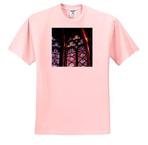 Elysium Photography - Architecture - Stained Glass in La Sainte-Chapelle, Paris - T-Shirts - Light Pink Infant Lap-Shoulder Tee (24M) (ts_289632_73)