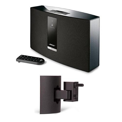 Bose SoundTouch 20 Series III Wireless Music System with Remote Control, Black - With Bose UB-20 Series II Wall/Ceiling Bracket