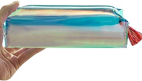 La Haute estuche holográfico de PVC, monedero, bolsa de maquillaje, color amarillo: Amazon.es: Oficina y papelería