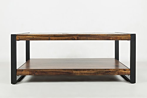 """jofran: 1690-1, loftworks, rectangle cocktail table, 48""""w x 26""""d x 19""""h, loftworks finish, (set of 1)"""