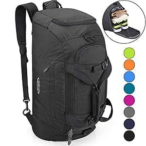 f2ef793b61 Amazon.com  G4Free 3-Way Travel Duffel Backpack Luggage Gym Sports ...