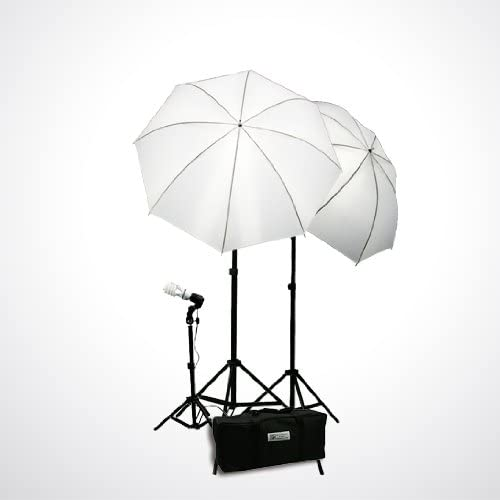 ePhoto Continuous Photography Video Studio Digital Lighting Kit 3 Point Lighting Kit with Muslin Support Stands by ePhotoInc H103