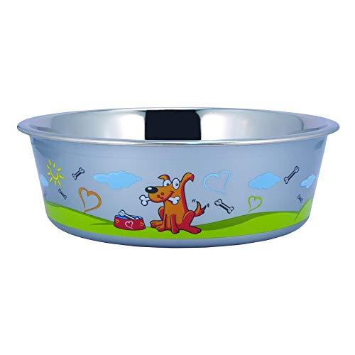 Boomer N Chaser BNC-10007 Sneaky Dog Design Stainless Steel Fusion Bowl, - Bella Dog Bowl