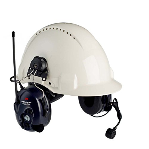 3M Peltor LiteCom Plus Two Way Radio Headset, MT7H7P3E4610-NA, Hard Hat Attached, 1 (Peltor Hard Hat)