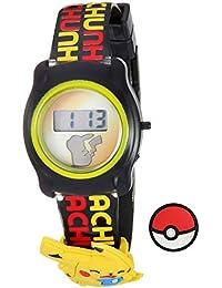 Pokemon Kids' POK3085 Digital Display Quartz Black Watch
