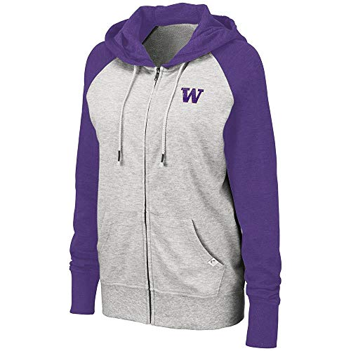 - Colosseum Womens Washington Huskies Trento Full Zip Hoodie - L