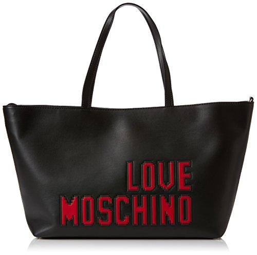 Noir B portés Black Nappa Moschino Borsa Nero T x Sacs 11x28x38 épaule Pu Soft cm H Love femme AwvBCxqRw