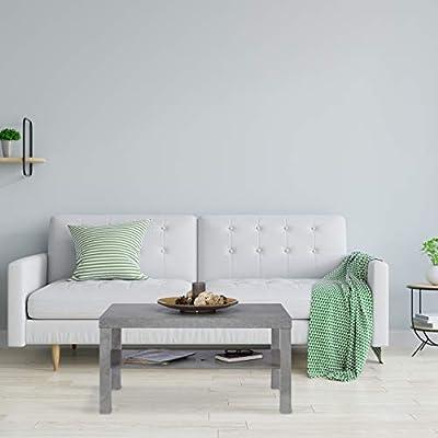Relaxdays, Gris, 45 x 90 x 55 cm Mesa Centro de Salón Efecto ...