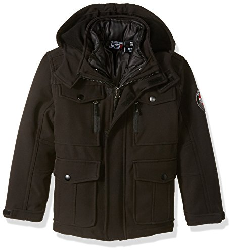 32 DEGREES Weatherproof Weatherproof Little Boys Outerwear Jacket (More Styles Available), Systems Classic Black, - System Boys Jacket