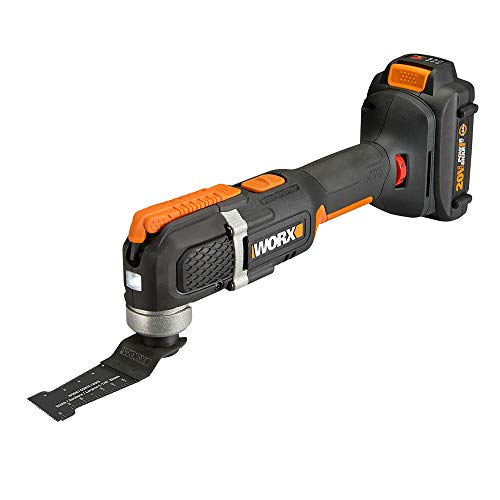 WORX WX696L.1 20V 1.5Ah Cordless Oscillating Tool With Accessories Kit Battery and Charger Included