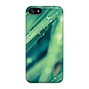 HzTkk18459AgFYM Tpu Case Skin Protector For Iphone 5/5s Morning Drops On Leaves With Nice Appearance