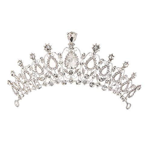 Sunshinesmile Crystal Tiara Crowns Hair Jewelry Rhinestone Wedding Pageant Bridal Princess ()
