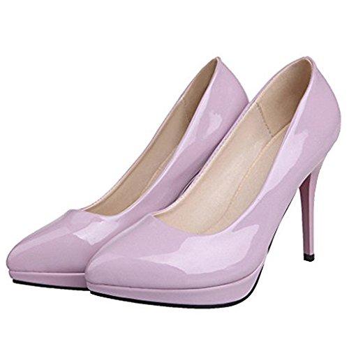 ENMAYER Womens Work Place Thin High Heel Pumps Purple Hd0URKvY