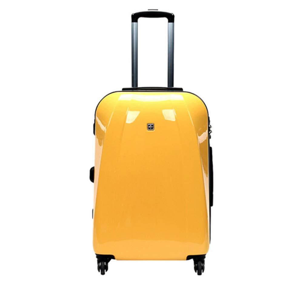 トロリーケース出張兼用スーツケース搭乗ミュートキャスターラグイエロー、ワインレッド、グレーグリーン(fenmei),C B07QPS27VY C